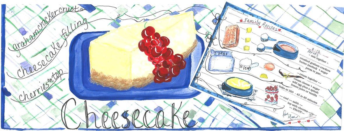 Debbartschillustration cheesecake