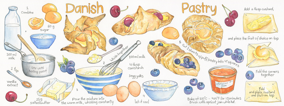 Easy danishes suzanne de nies