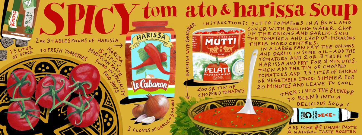 Tdac spicy tomato harissa soup klaar