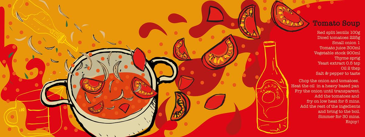 Amyhope illustration tomato soup