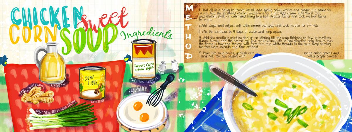 Sweet corn chicken soup recipe