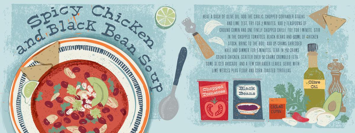 Tdac blackbean chicken soup