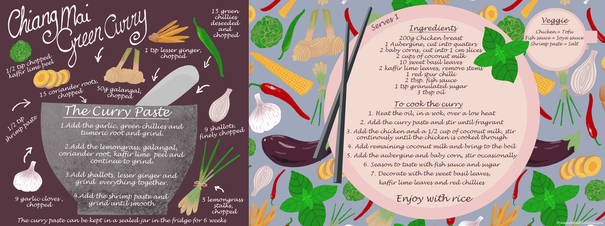 Jessica waddell designs   green curry