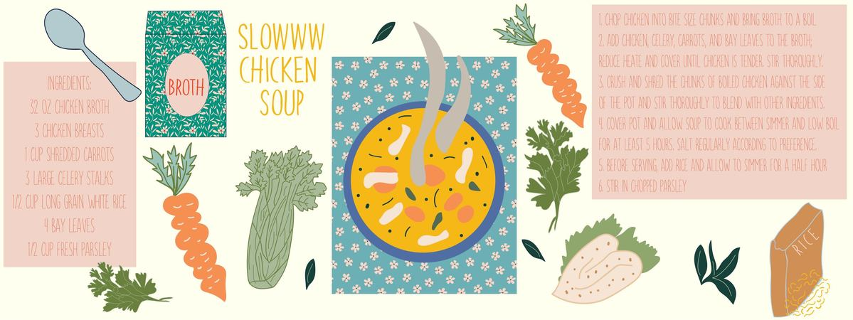 Slow chicken soup