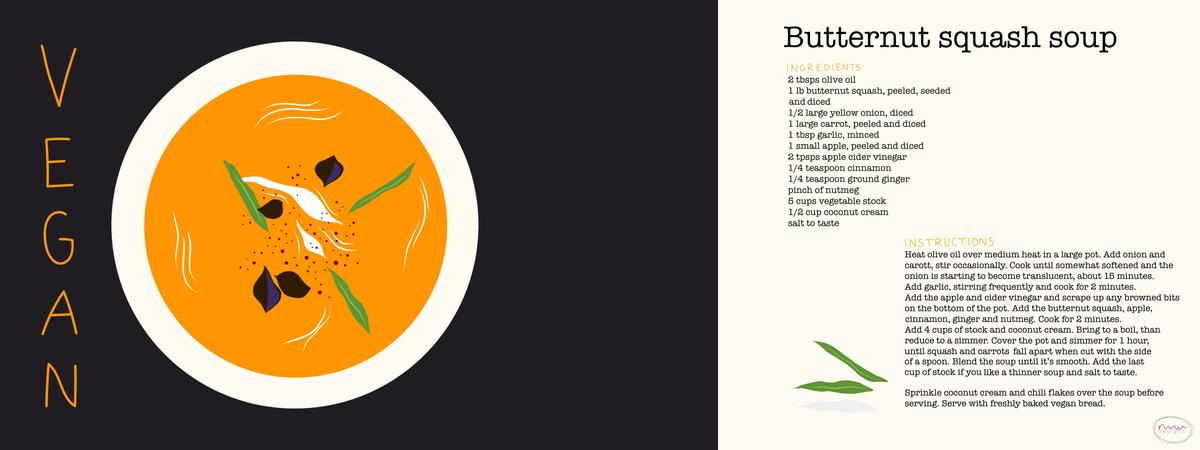 Vegan butternut squash soup mwideland ff2018