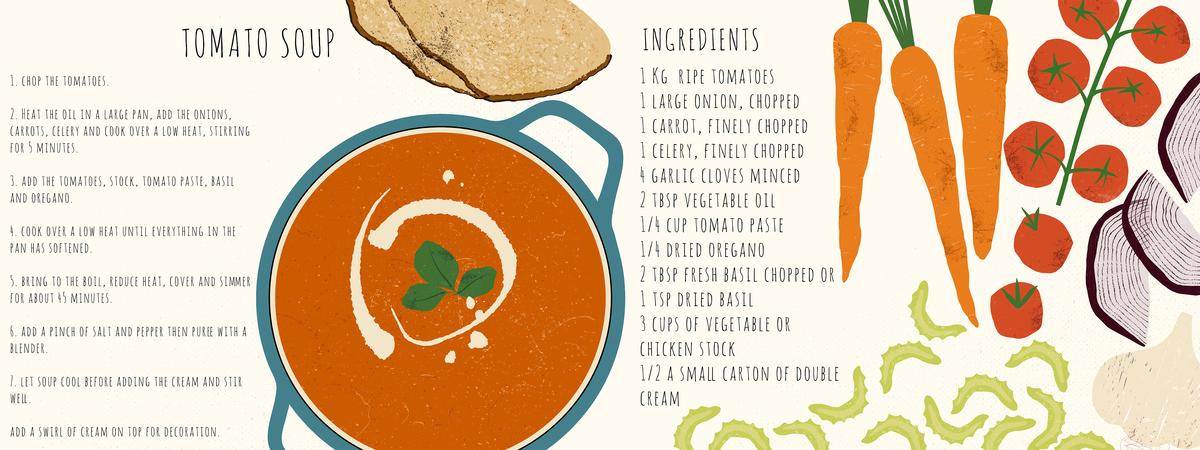 Maria ofili tomato soup