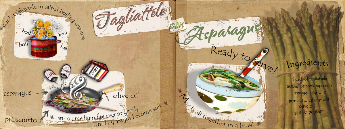 Tdac tagliattele con asparagus