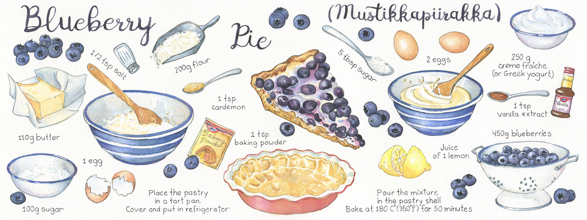 Blueberry pie suzanne de nies