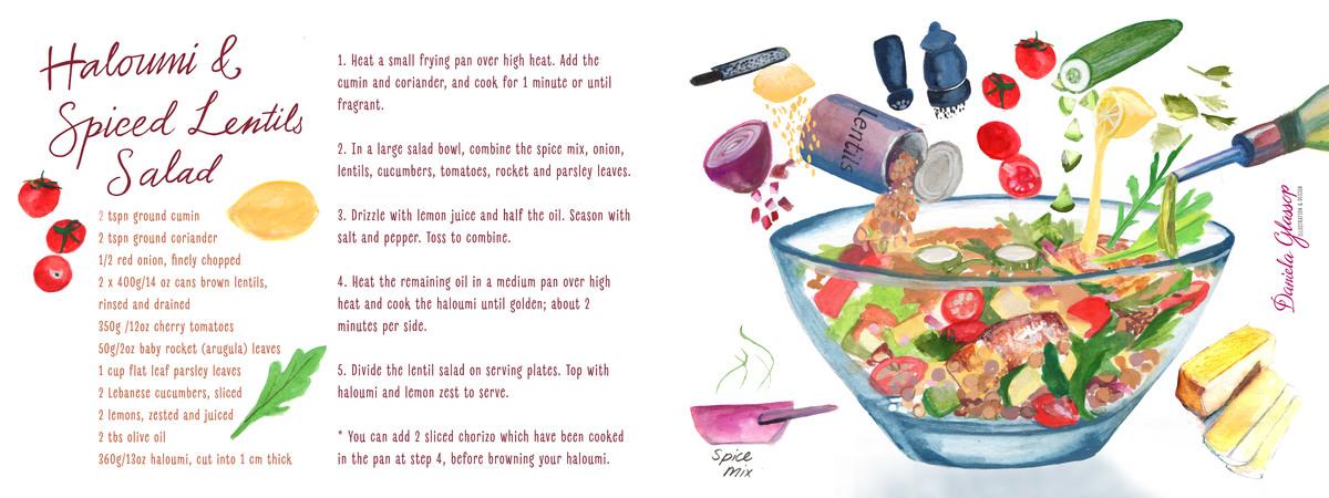 Haloumi spicedlentilssalad danielaglassop