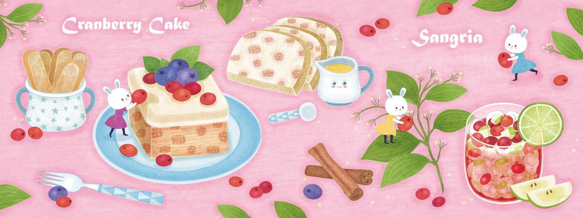 Cranberry cake   sangria 0918