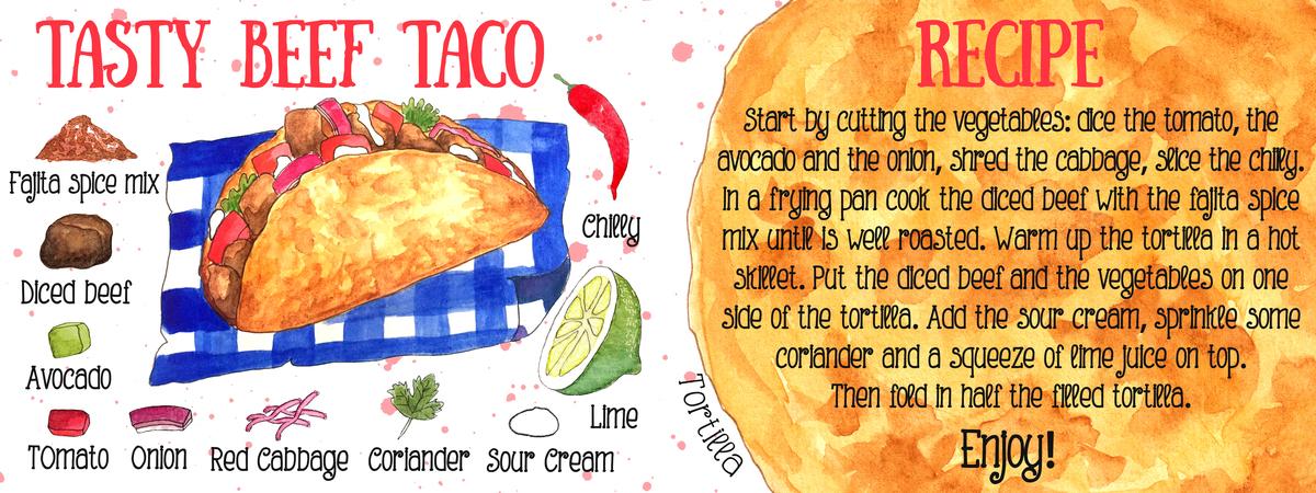 Tasty beef taco