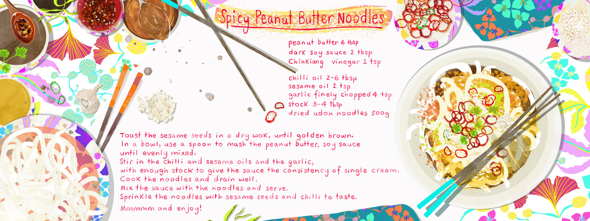 Spiceypeanut butter noodles