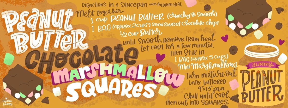 Pbchocolate squares
