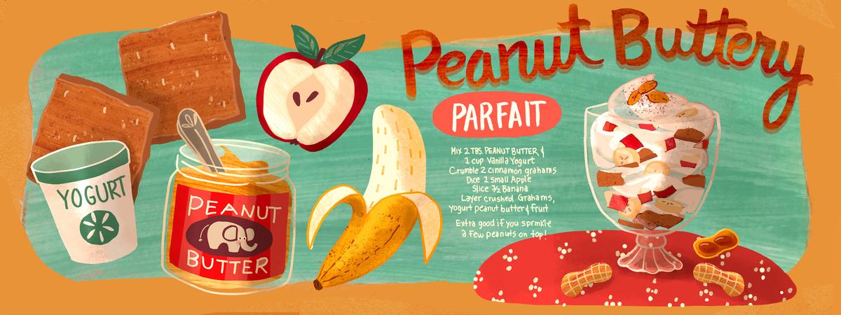 Peanut buttery parfait