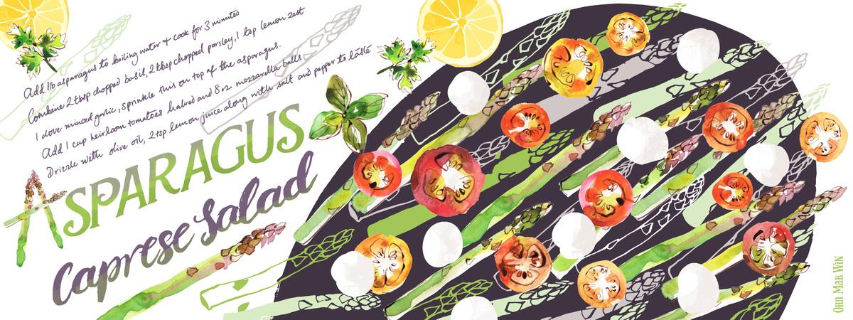 Asparagus caprese layout 01