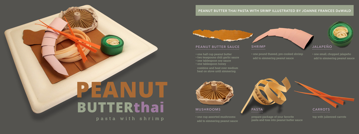 Dewald peanut butter thai pasta with shrimp