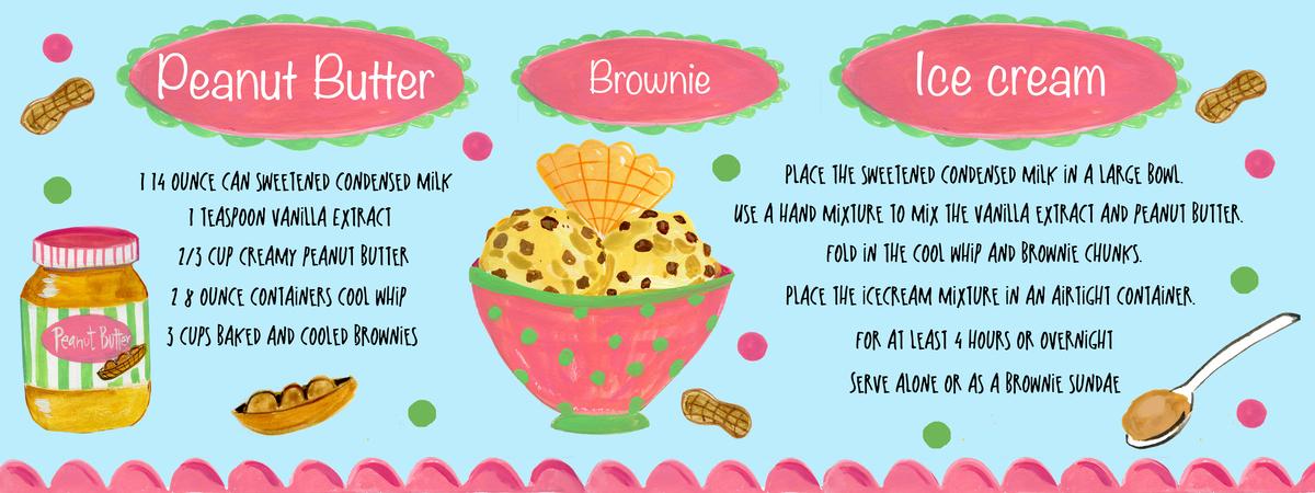 Peanut butter brownie icecream
