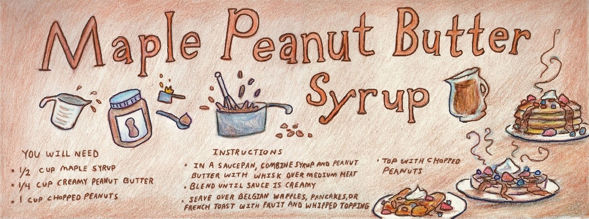 Maple peanut butter syrup