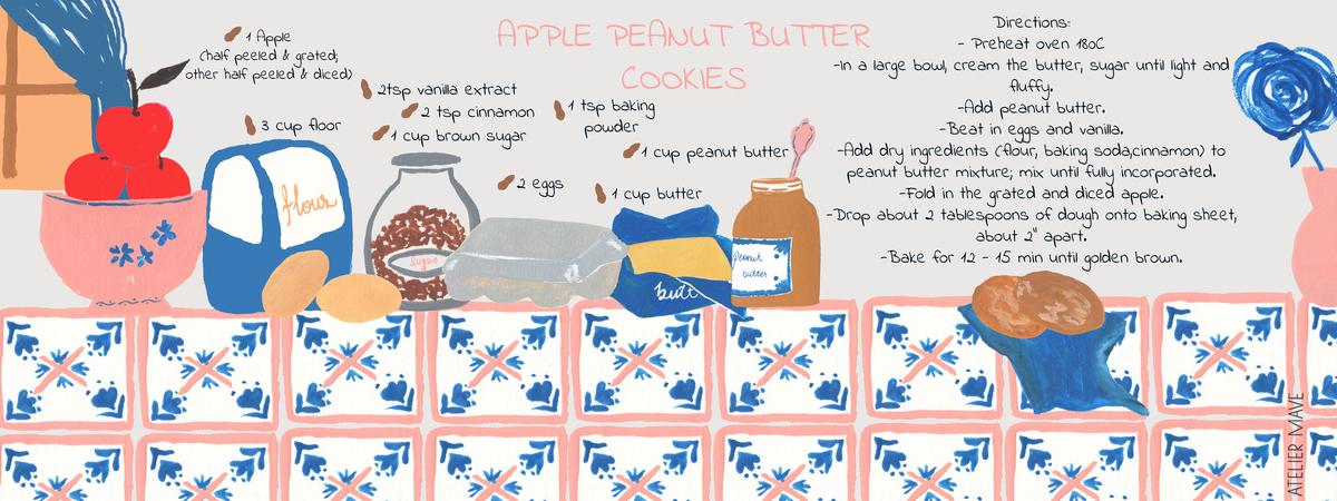 Atelier mave  apple peanut recipe