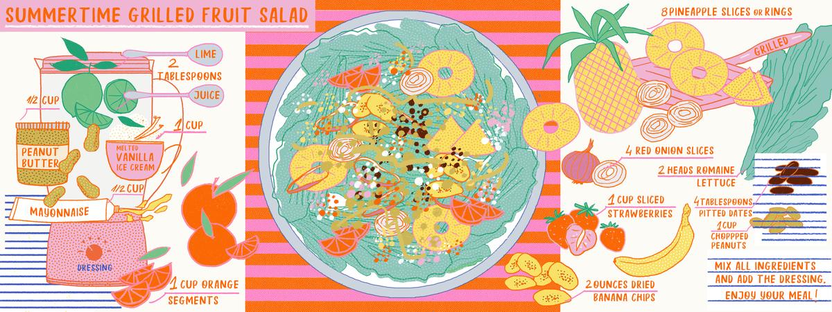 Milica golubovic summertime grilled fruit salad