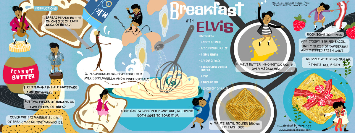 Breakfast with elvis illustrated by vera z.agg