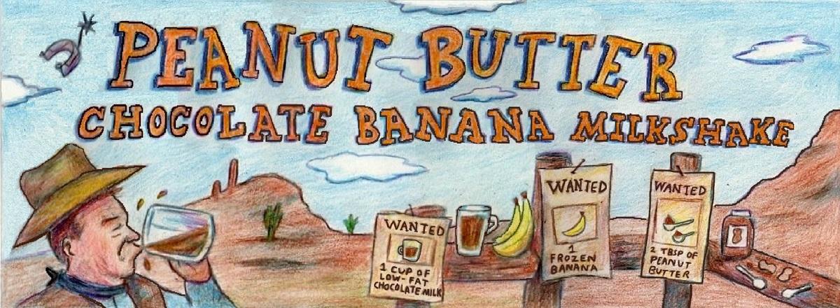 Peanut butter chocolate banana milkshake