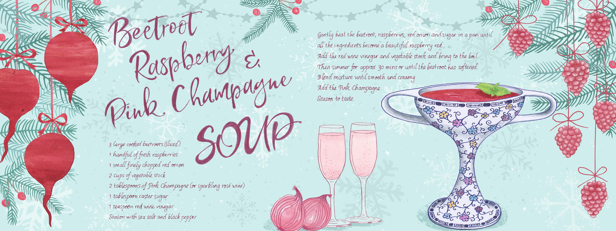 Sparkling beetroot soup recipe