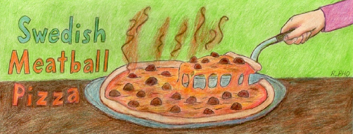 Swedish Meatball Pizza By Robert Pho They Draw Cook