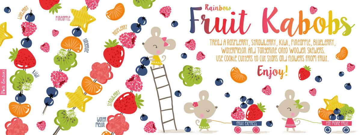 Rainbow fruit kabobs 01