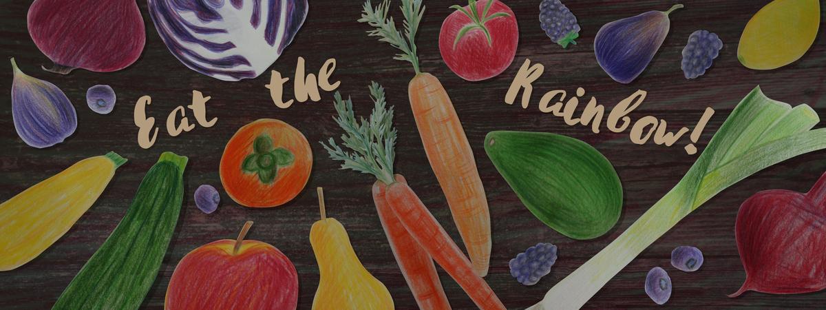 Eat the rainbow text