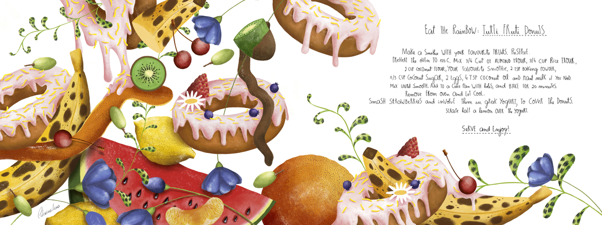 Tuti fruti donuts catarinavieira