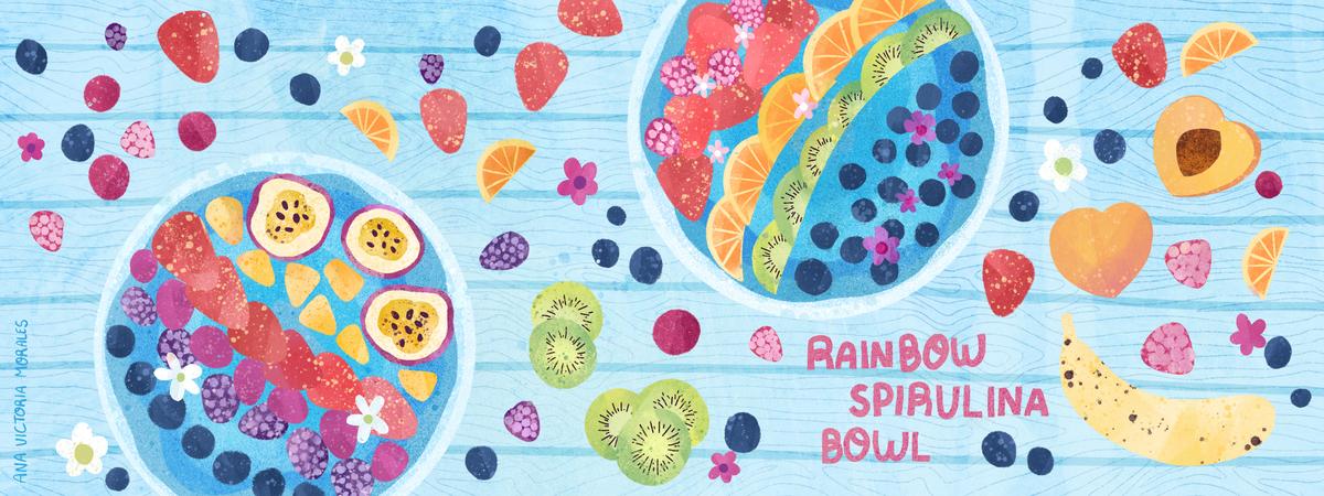 Rainbow spirulina