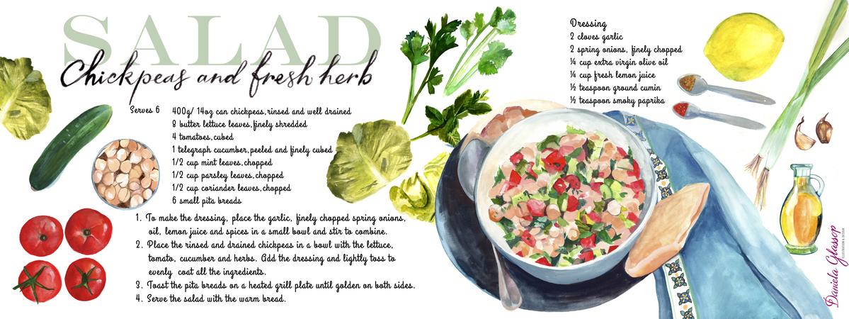 Chickpeas and fresh herb salad dglassop