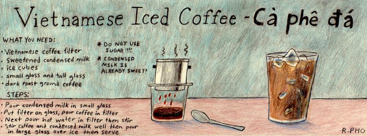 Vietnamese iced coffee   ca phe da