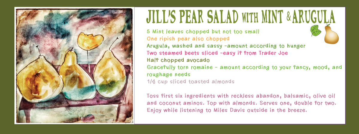 Pear mint salad 2