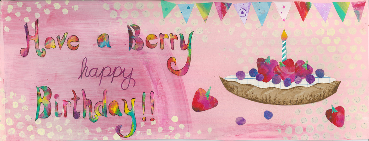 Berry Happy Birthday By Courtney Prahl They Draw Cook