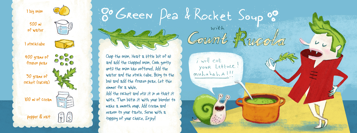 Greanpeas rocket soup
