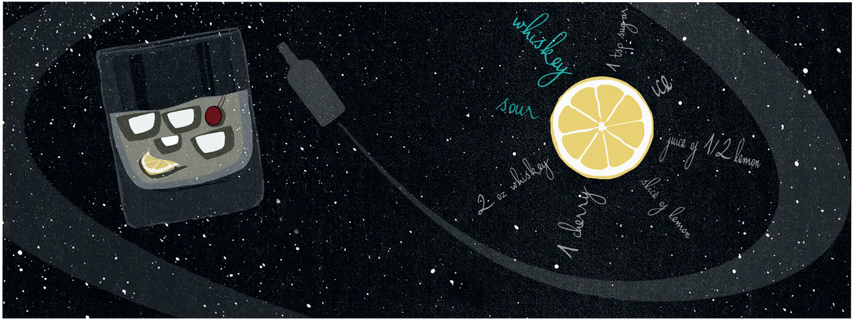 Jorndorf whiskey sour in space