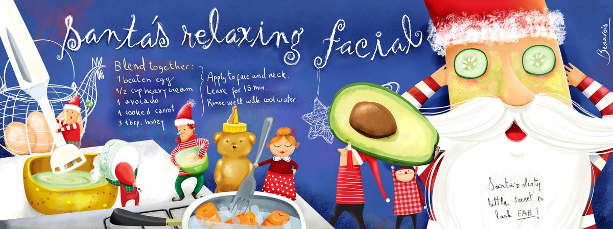 Santas facial cream