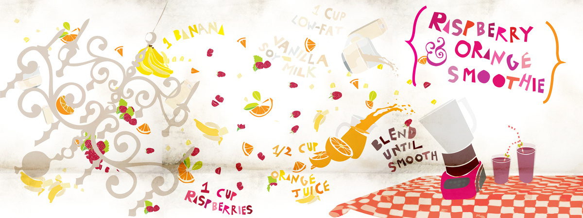Raspberry orange smoothie