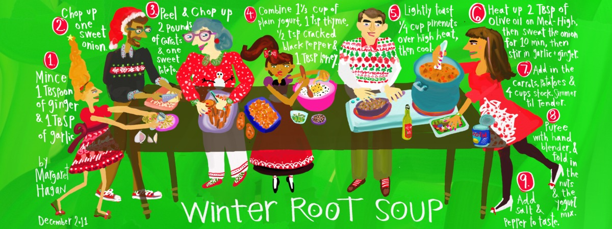 They draw and cook   winter root soup   margaret hagan