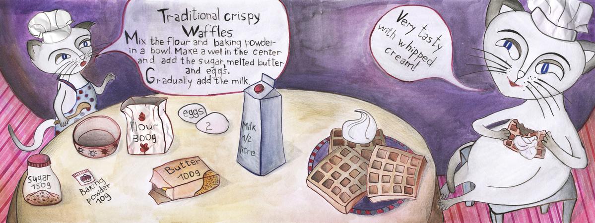 Cat waffles fin