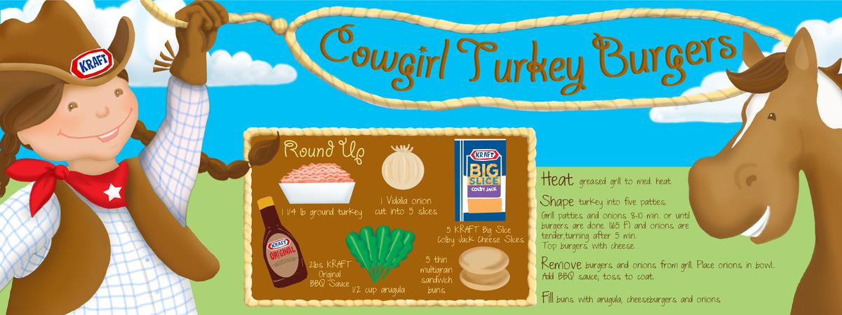 Cowgirl turkey burger