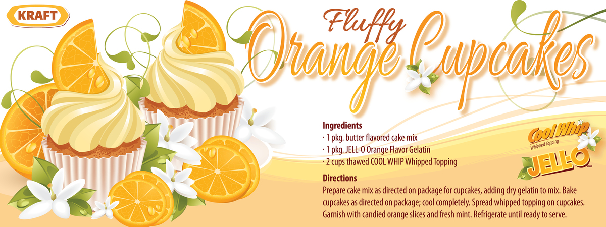 Fluffy orange cupcakes