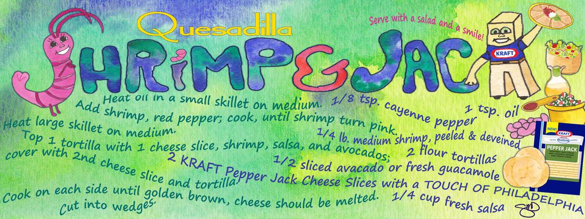 Shrimp   jack quesadilla