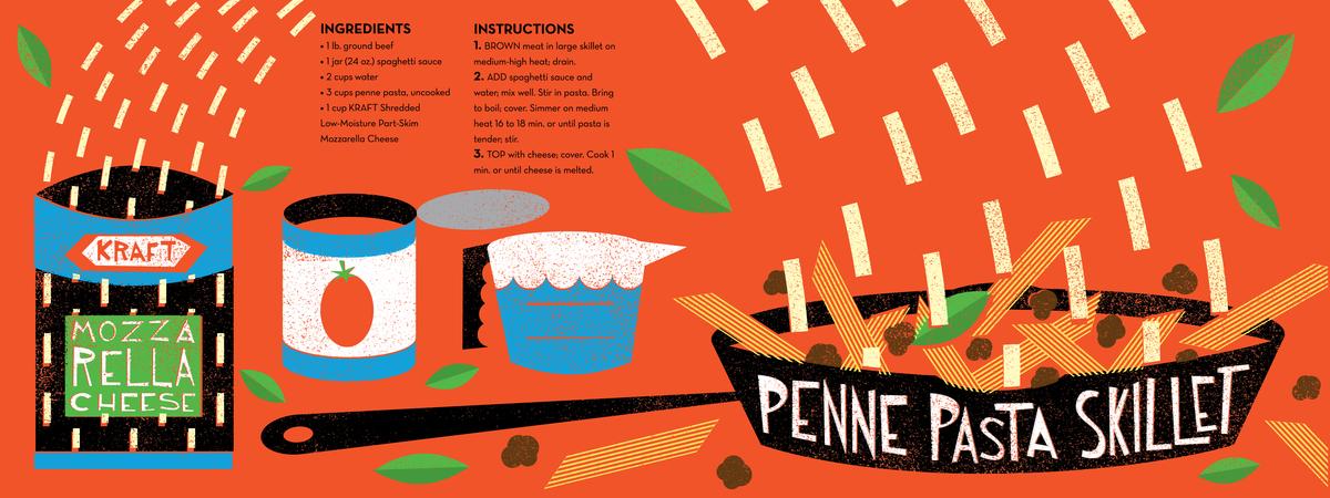 Vondrak penne pasta skillet
