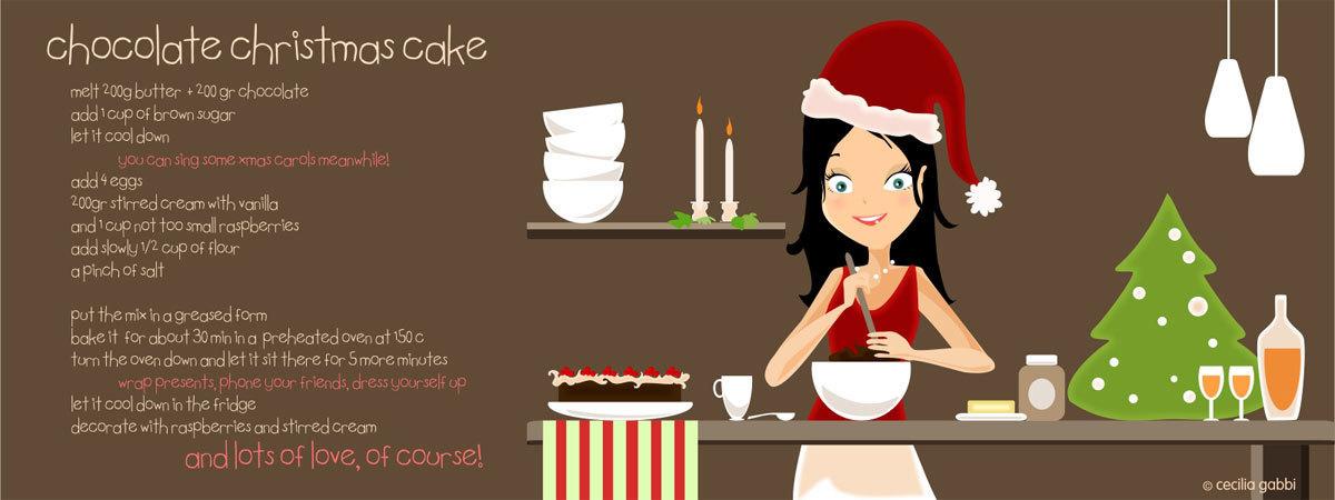 Chocolate christmas cake by cecilia gabbi