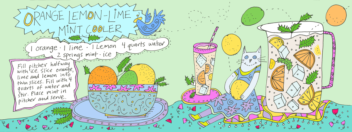 Orange lemon lime cooler