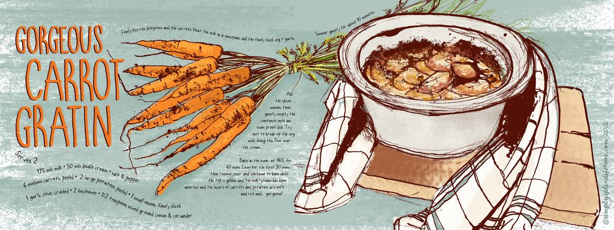 *tdac carrot   potato gratin