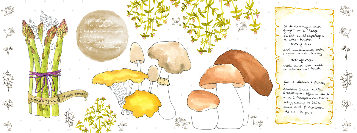 Asparagus and mushrooms kopie